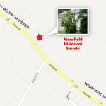 Map to the Mansfield Historical Society