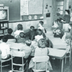 First TV at Annie E. Vinton Elementary School, 1959.