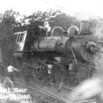 Train accident near Merrow Station, 1914