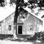 Mansfield's original Town Hall before it was relocated.