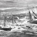"""The wreck of the City of Columbus,"" based on a sketch by an officer on board the revenue cutter Dexter was published in Harper's Weekly on February 2, 1884."