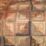 Detail of the Log Cabin quilt made by Maria Waldo Mattoon