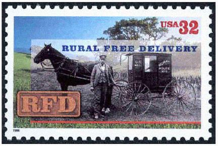 Rural Delivery Stamp 1996