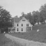 Spring Manor Farm, Home of George H. Reynolds. On the hill above the house you can see a portion of the extensive stone wall alongside Route 32.