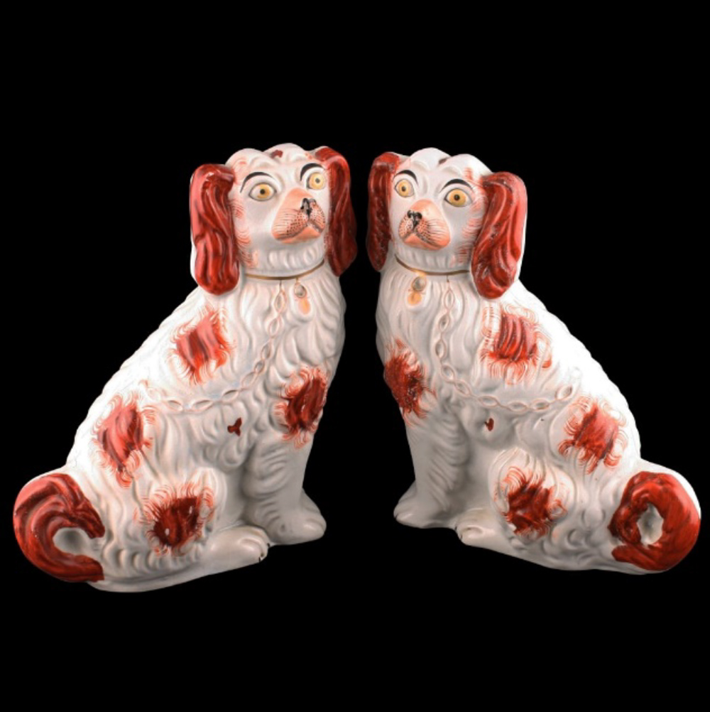 Staffordshire pottery dogs