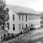 The O. S. Chaffee & Sons silk mill in Chaffeeville.  The photograph shows the new mill and enlarged dam, both built following the 1860