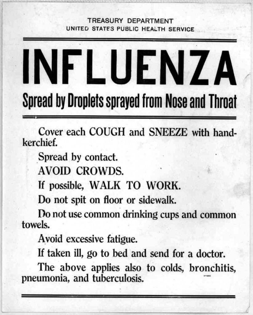 Influenza Flyer 1918