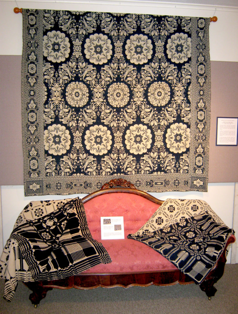 Double Weave Jacquard Coverlet