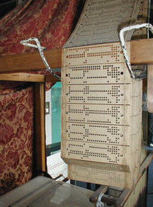 Jacquard loom with punch card