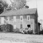 Mansfield Center District School - Built in 1833, demolished in 1926. This photograph was taken in the 1920s.