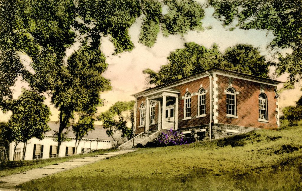 Mansfield Center Library Postcard